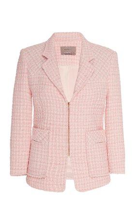 SOONIL Pink Tweed Military Jacket