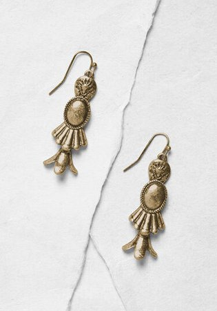 Just My Type Dangle Earrings Gold | ModCloth