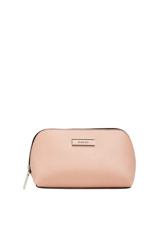MANGO Zipped pebbled cosmetic bag