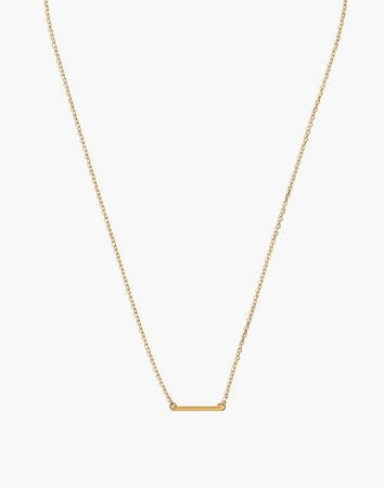 Vermeil Bar Necklace
