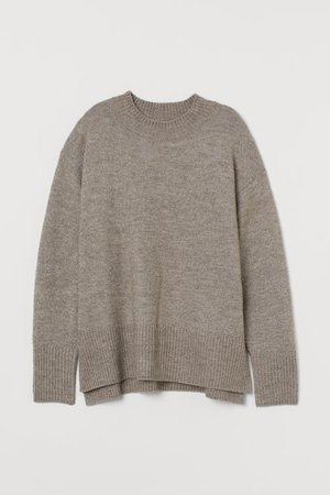Knit Sweater - Taupe - Ladies | H&M US