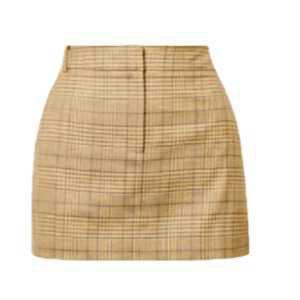 yellow mini skirt