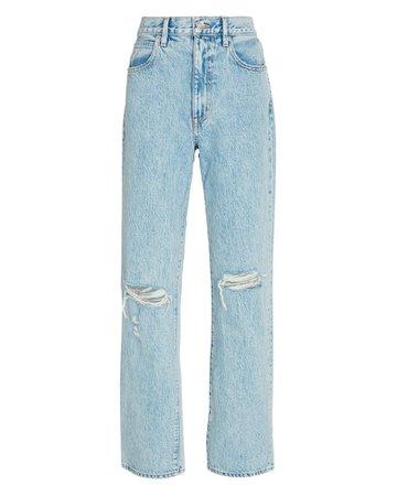 SLVRLAKE London Distressed Straight-Leg Jeans | INTERMIX®