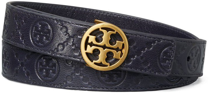 T Mongram Leather Belt