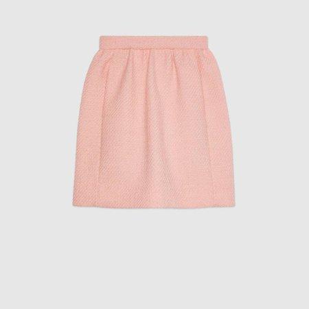 Pastel pink tweed skirt