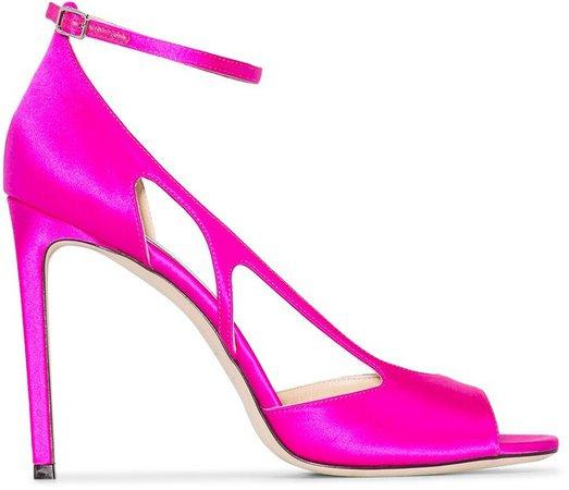 pink Liu 100 cutout satin pumps