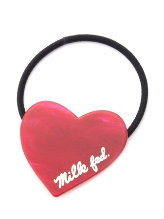 HEART HAIR ELASTIC BAND(アクセサリー/ヘッドアクセサリー)|MILKFED.(ミルクフェド)の通販|ファッションウォーカー