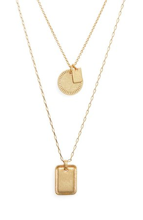 Madewell etched coin neclace
