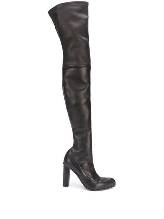 Alexander McQueen knee-high Leather Boots - Farfetch