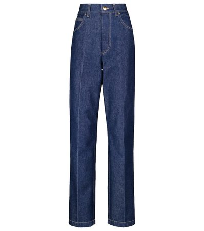 Goldsign - Jeans rectos The Crossway tiro alto | Mytheresa