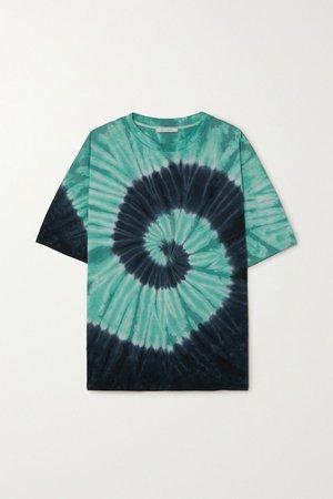 Blue + NET SUSTAIN tie-dyed organic cotton-jersey T-shirt | Ninety Percent | NET-A-PORTER