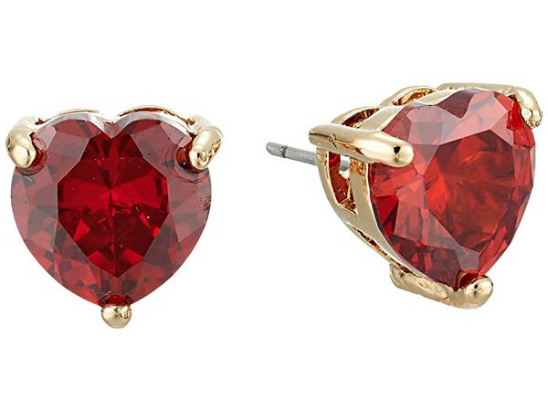 Betsey Johnson CZ Hearts Earrings