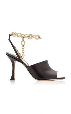 Sae Leather Chain-Link Sandals By Jimmy Choo   Moda Operandi