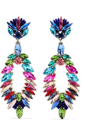 Ranjana Khan | Crystal clip earrings | NET-A-PORTER.COM
