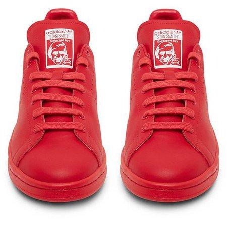Raf Simons X Adidas Originals Stan Smith Red Low Top Sneaker ($480)