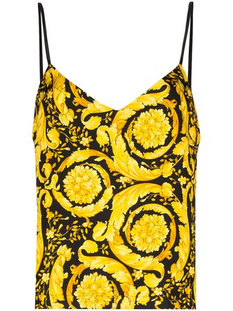 Versace Baroque Print Cami Top - Farfetch