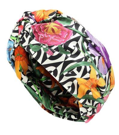 Printed Silk Headband - Gucci | Mytheresa