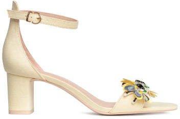 Block-heeled Sandals - Yellow