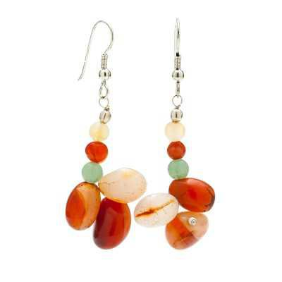 Multi Colored Agate Gemstone Earrings | Mystic Self LLC