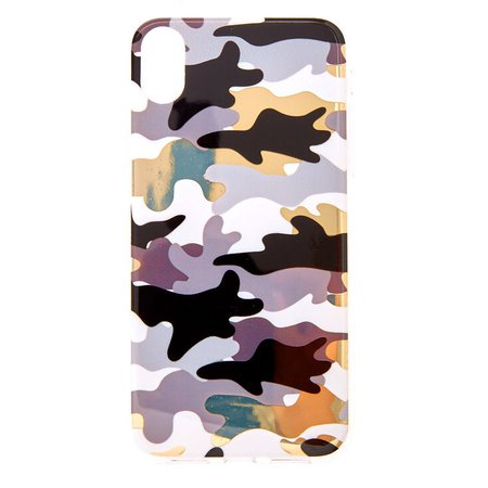 Metallic Camo Phone Case - Fits iPhone XR | Claire's US