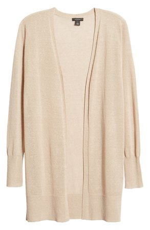 Halogen® Side Slit Cardigan (Regular & Petite) | Nordstrom