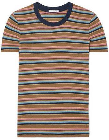 Vintage Boy Striped Cotton-blend Jersey T-shirt - Brown