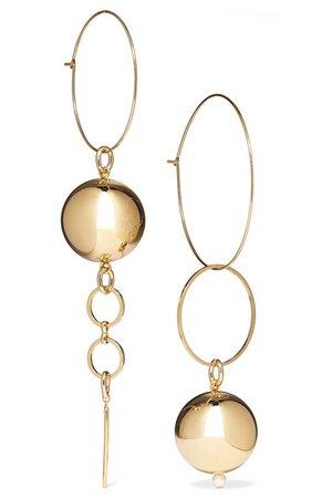 Mounser | Solar gold-plated faux pearl earrings | NET-A-PORTER.COM
