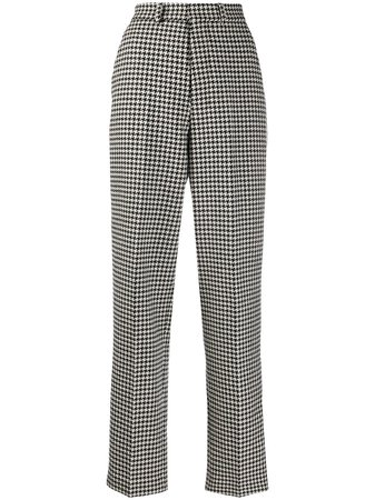 AMI Paris houndstooth tailored trousers black & white