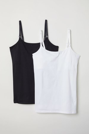 MAMA 2-pack Nursing Tank Tops - White