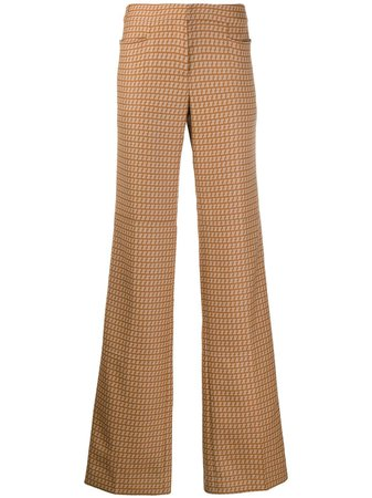 Stella McCartney abstract print straight trousers