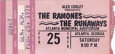 The Ramones ticket
