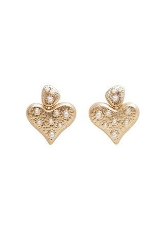 MANGO Heart-shape earrings