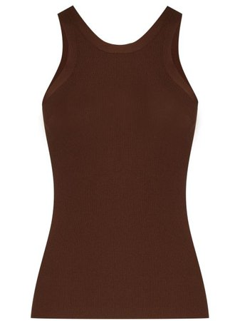Shop brown Totême x Browns 50 Espera ribbed-knit tank top with Express Delivery - Farfetch