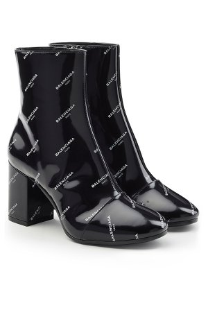Printed Patent Leather Ankle Boots Gr. IT 38