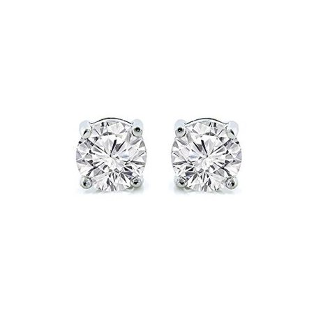 Cate & Chloe - 2Ct. Beyonce Gemstone Silver Stud Earrings, Large Round Brilliant Crystal Silver Studs Earring Sets for Women, Womens Rhinestone Fashion Statement Jewelry - MSRP $99 - Walmart.com - Walmart.com