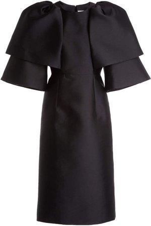 Huishan Zhang Hilda Tiered Sleeve Satin Midi Dress