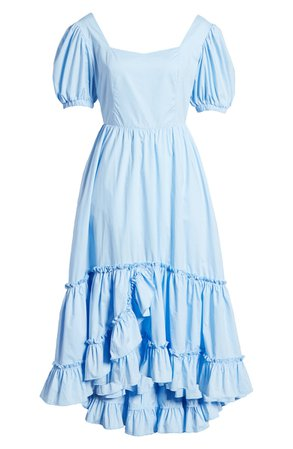 English Factory Ruffle High/Low Dress