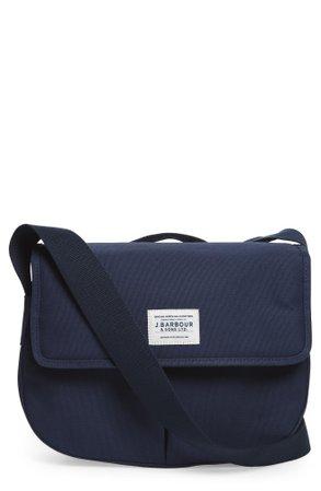 Barbour Tarras Canvas Messenger Bag - Blue In Navy | ModeSens