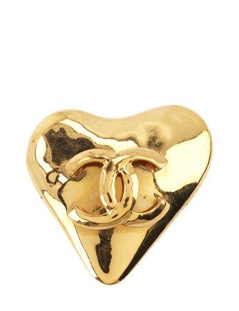 gold brooch Chanel