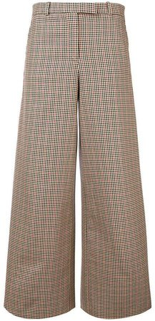 side stripe houndstooth tuxedo trousers