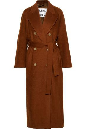 Double-breasted belted mohair-blend coat | ACNE STUDIOS | Sale up to 70% off | THE OUTNET