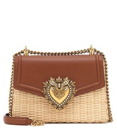 Devotion Raffia Shoulder Bag - Dolce & Gabbana   Mytheresa
