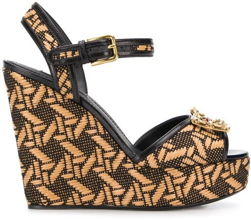 Amore braided wedge sandals