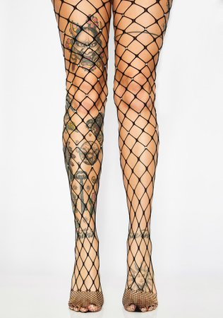 Crystal Fence Fishnet Tights | Dolls Kill