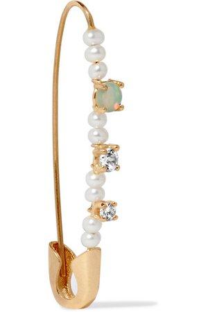 LOREN STEWART 14-karat gold multi-stone earring