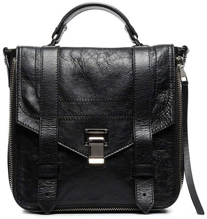 black ps1 leather backpack