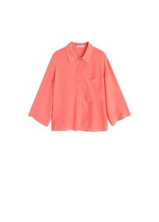 MANGO Patch pocketed shirt