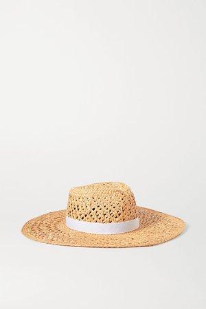 Beige Grosgrain-trimmed straw hat | rag & bone | NET-A-PORTER