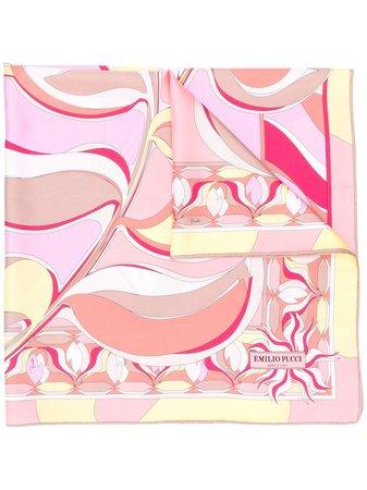 Emilio Pucci Abstract Peony Print Scarf - Farfetch