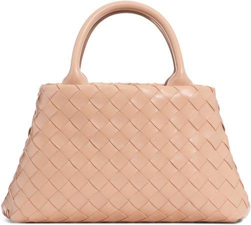 Mini Intrecciato Leather Double Handle Tote Bag